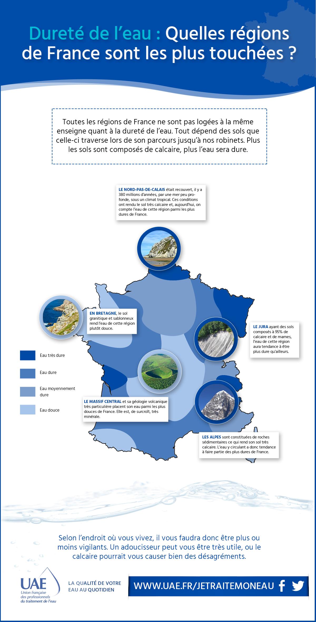 infographie dureté de l'eau régions France