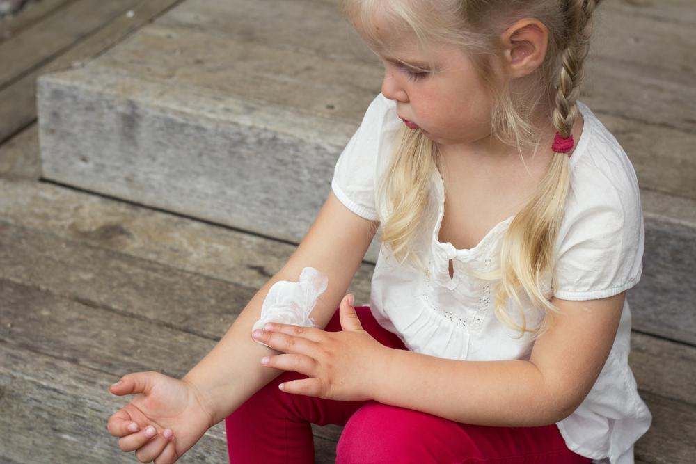 calcaire et enfants peau