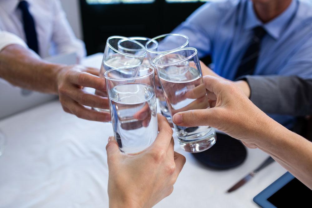 fontaine à eau sur réseau entreprise