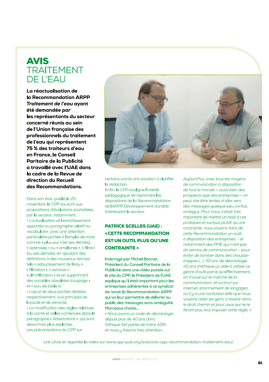 ARPP rapport annuel 2